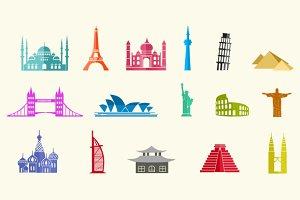 16 City Landmark Icons
