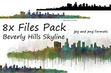 8x Bundle Beverly Hills skyline.