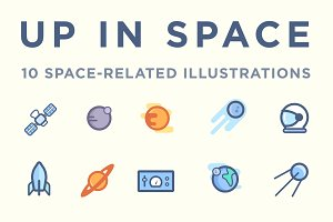 Up in Space vector pack