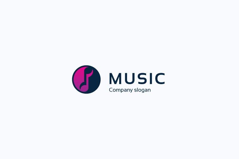 music note audio sound logo yin yang logo templates creative market