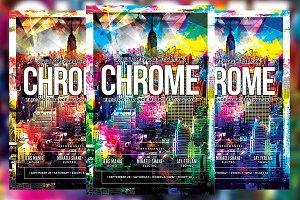 Chrome Music Festival Flyer
