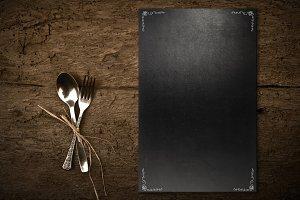 Vintage chalkboard template menu