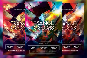 Trance Colors Flyer