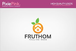 Fruit Home Logo Template
