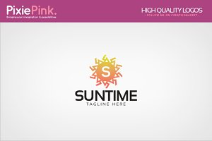 Sun Time Logo Template