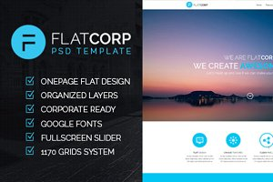 FlatCorp - Multi-purpose PSD Templat