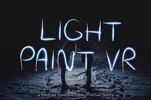 Light Paint VR Typeface