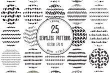 Set of 25 seamless patterns