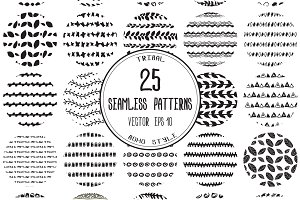 Set of 25 seamless patterns