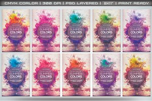 Summer Colors Flyer Template