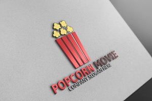 Popcorn and Movie Logo