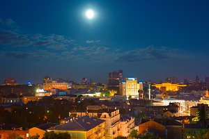 Kiev in moonlight. Ukraine