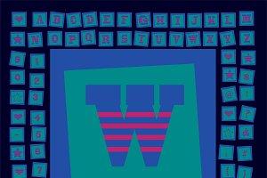 Pop art creative fonts vector blue