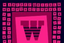 Pop art creative fonts pink