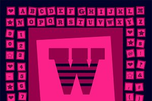 Pop art creative fonts pink
