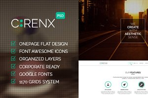 Cirenx - One Page Multi-purpose PSD