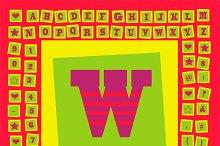 Pop art creative fonts purple
