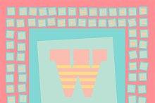 Creative pop art font light colors