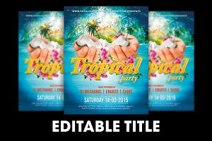 Tropical Party Flyer + FB Banner