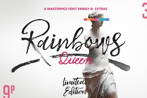 Rainbows Queen Typefaces & Extras