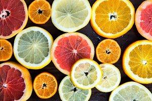 Citrus Fruit Slices, Top view