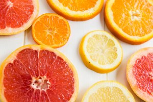 Citrus Fruit Slices, Top view