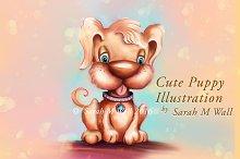 Cute Puppy Dog Illustration