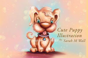 Cute Puppy Dog Illustration