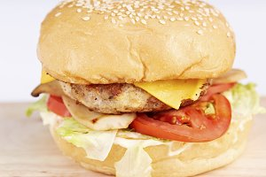 Burger pork