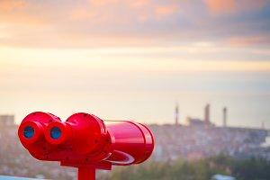Red binocular