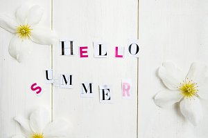 "Letters ""Hello Summer"""
