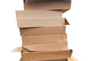 Pile of cardboard boxex
