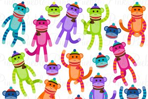Sock Monkey Clipart and Vectors