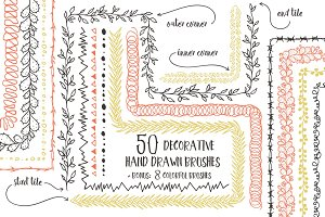 50 Vector Pattern Brushes