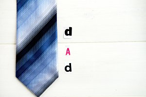 "Letters ""Dad"" and Tie"