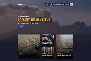 AREVO - Personal Blog Psd Template