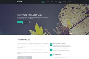 Modest – Responsive Landing Page