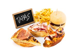 Spanish tapas isolated