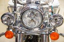 Motorcycle headlight details
