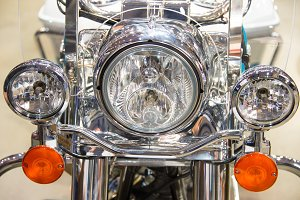 Motorcycle headlight details