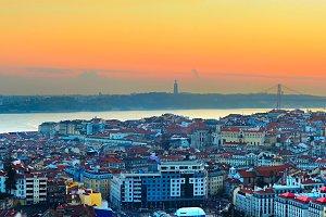 Lisbon skyline, Portugal