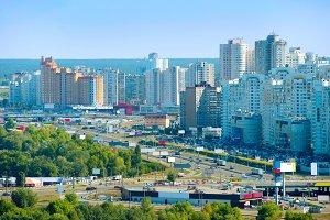 Osokorky district. Kiev, Ukraine