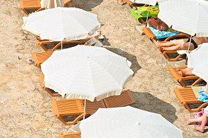 Sunbath in a beach
