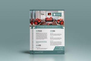 1+1(Free) Minimalist Flyer Template