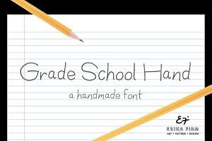 Grade School Hand OpenType Font
