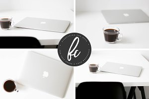 Stock Bundle - Laptop & Coffee
