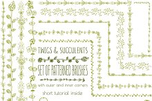 Set of vector patterned brushes-2