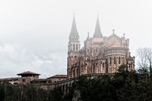 Covadonga sanctuary with fog II