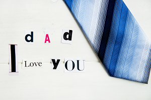 "Letters ""Dad I Love You"""
