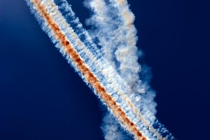Abstract Sky Traces From Airplanes
